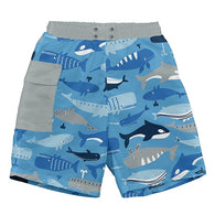 Whale Pocket Trunks with built in Swim Diaper - Nature Baby Outfitter