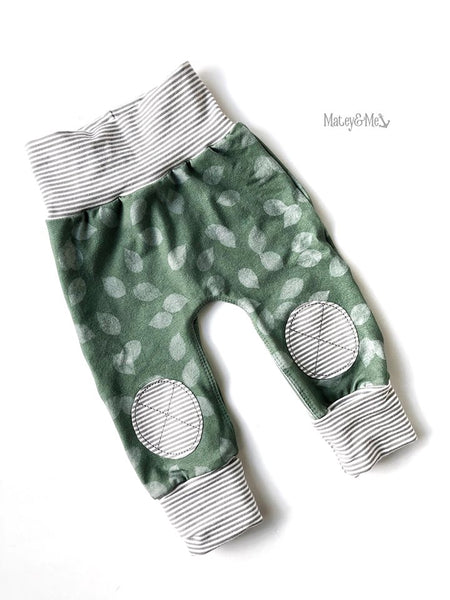 Sage Fallen Leaves Joggers | Matey & Me