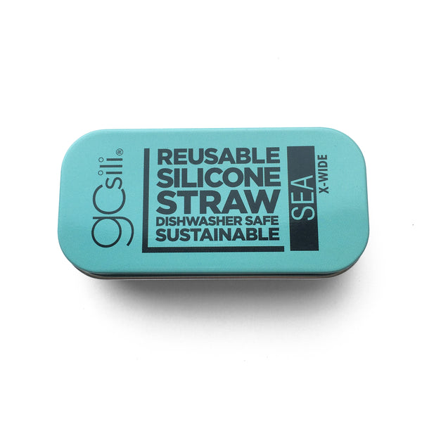 Extra Wide Silicone Straw with Travel Tin | GoSili