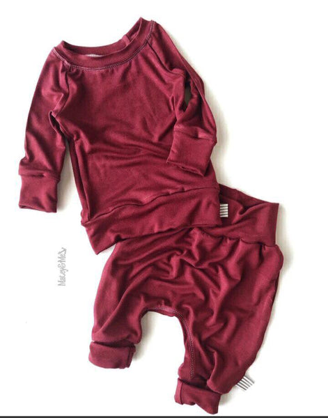 Maroon Long Sleeve Shirt | Matey & Me