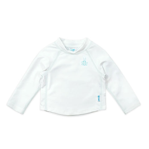 White Long Sleeve Rashguard Shirt - Nature Baby Outfitter