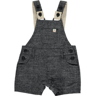 Black Woven Shortie Overalls | Me & Henry