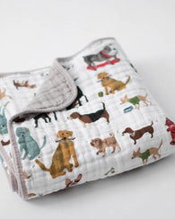Woof Cotton Muslin Quilt | Little Unicorn