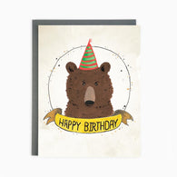 Happy Birthday Bear Card| Made In Brockton Village