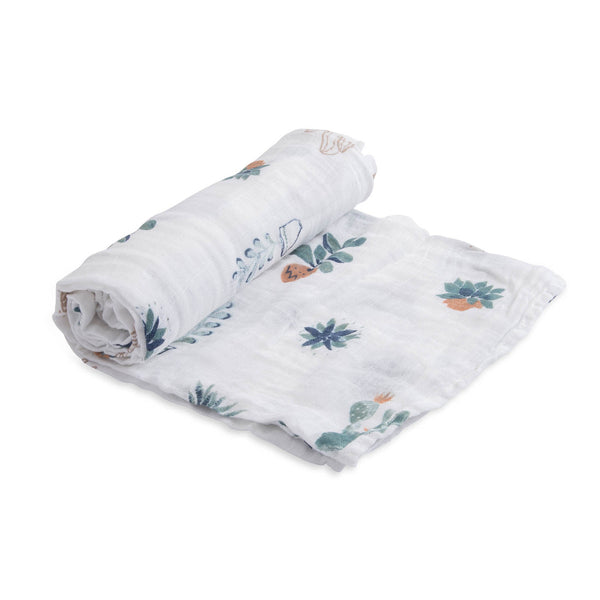 Prickle Pots Cotton Swaddle Blanket | Little Unicorn