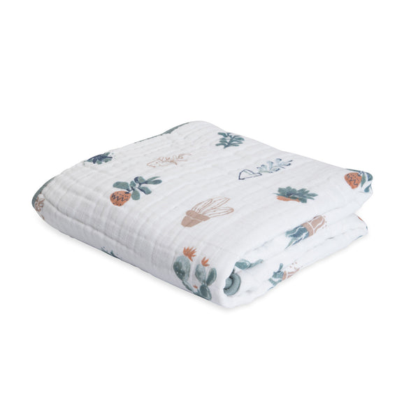 Prickle Pots Cotton Muslin Quilt | Little Unicorn