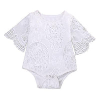 Angela Lace Ruffle Sleeve Romper | Elsa Bella Baby - Nature Baby Outfitter