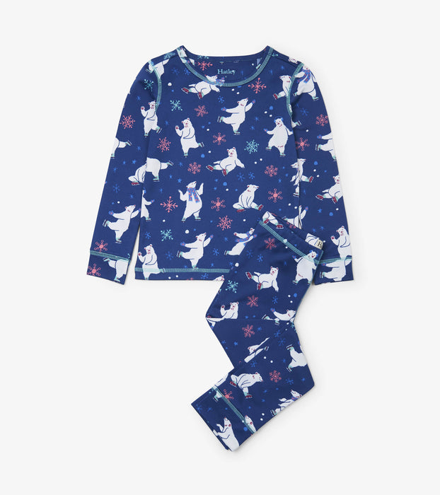 Blue Skating Polar Bears Ski Underwear | Hatley