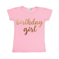 Birthday Girl Tee Shirt - Light Pink| Sweet Wink - Nature Baby Outfitter