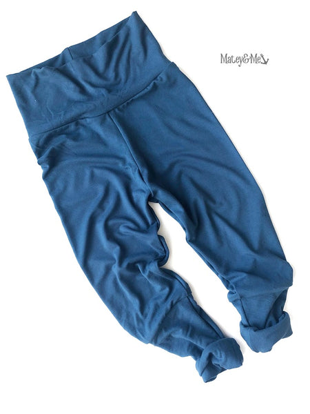 Blue Bamboo Grow with Me Joggers | Matey & Me