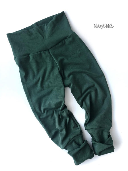 Green Bamboo Grow with Me Joggers | Matey & Me