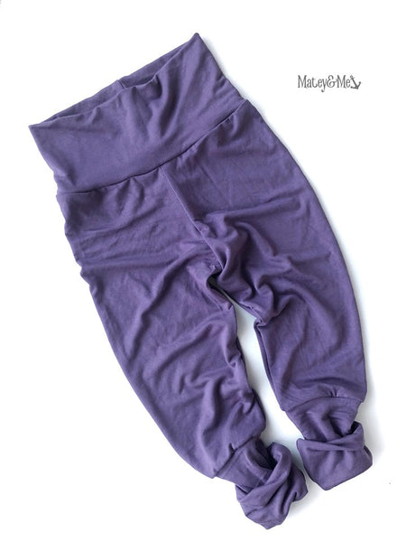 Purple Bamboo Grow with Me Joggers | Matey & Me