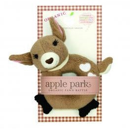 Organic Stuffed Teething Rattle | Farm Buddies by Apple Park - Nature Baby Outfitter