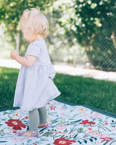 Primrose Patch Indoor and Outdoor Blanket | Little Unicorn