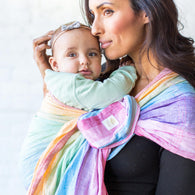 Rainbow Stripes Lillebaby Eternal Love Ring Sling - Nature Baby Outfitter