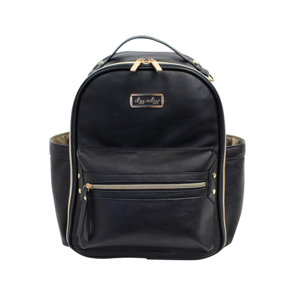 Black Mini Diaper Bag Backpack | Itzy Ritzy