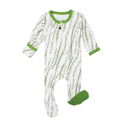 Moss Willow Organic Zipper Footed Overall | L'ovedbaby