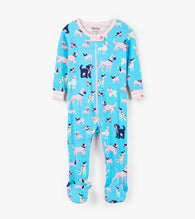 Baltic Sea Playful Pups Organic Cotton Coverall Pajamas | Hatley