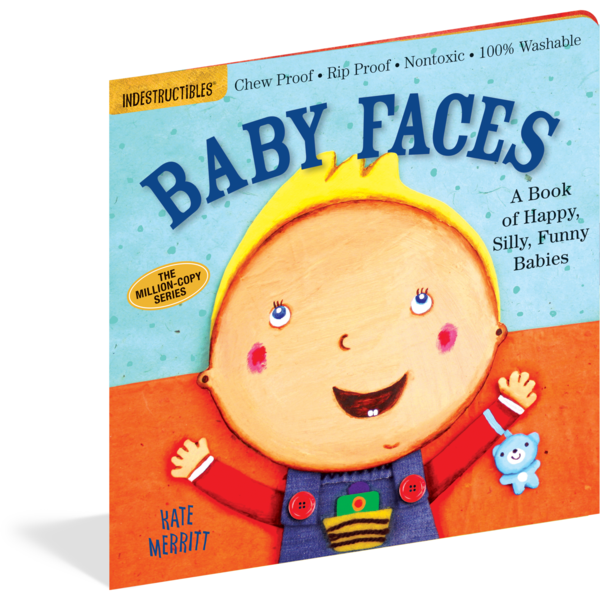 Baby Faces Indestructibles Rip Proof + Chew Proof + Washable Books - Nature Baby Outfitter