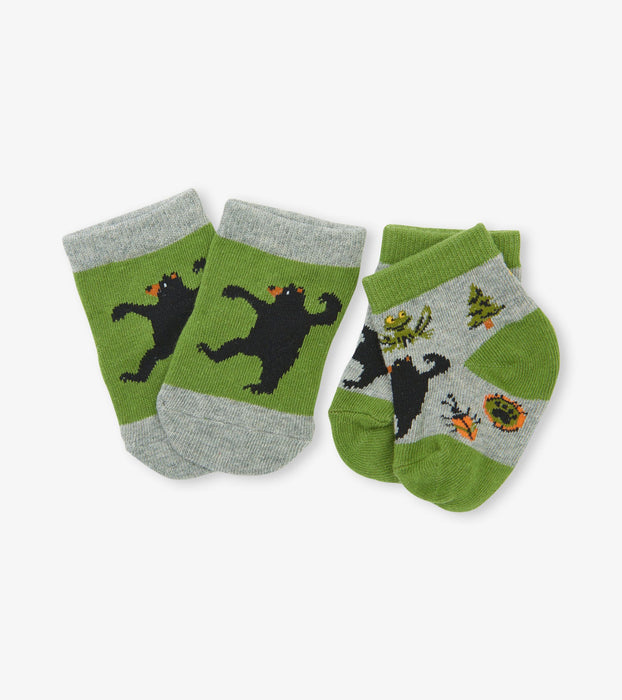 Retro Camping 2-Pack Baby Socks | Little Blue House by Hatley