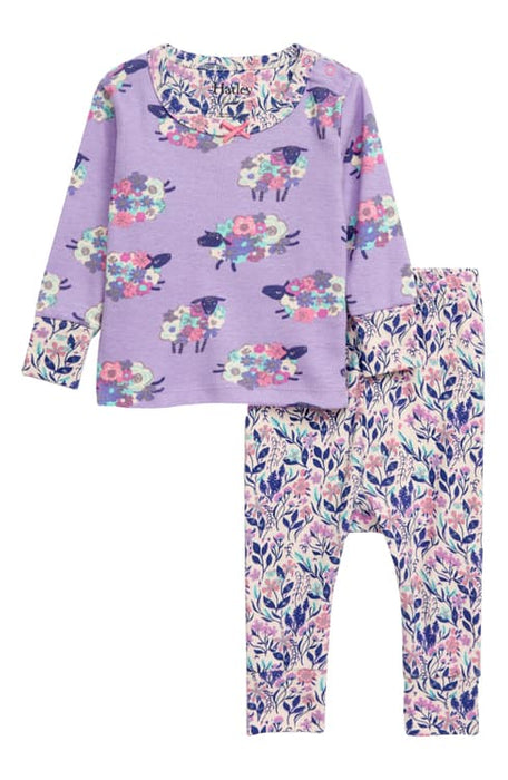 Lilac Counting Sheep Organic Cotton Pajamas | Hatley