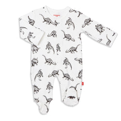 Babe-A-Saurus Organic Cotton Magnetic Footies | Magnetic Me
