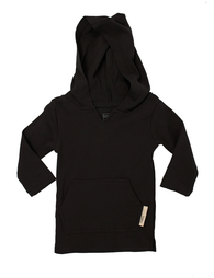 Black Organic Hoodie | L'ovedbaby - Nature Baby Outfitter