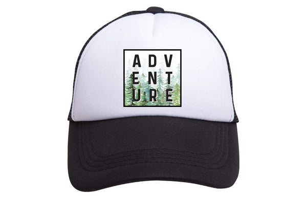 Adventure Tiny Trucker Hat | Black - Nature Baby Outfitter