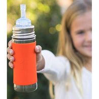 Pura Kiki® 11oz Straw Bottle with Sleeve - Nature Baby Outfitter