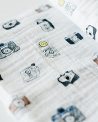 Camera Cotton Swaddle Blanket | Little Unicorn - Nature Baby Outfitter