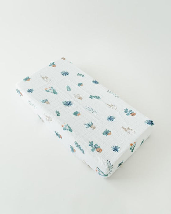 Prickle Pots Cotton Muslin Changing Pad Cover | Little Unicorn