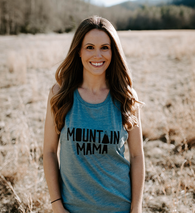 Mountain Mama Blue Tank - Nature Baby Outfitter