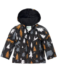Wildlife Tracker Rain Jacket with Soft Lining& Easy on Snaps| Oaki - Nature Baby Outfitter