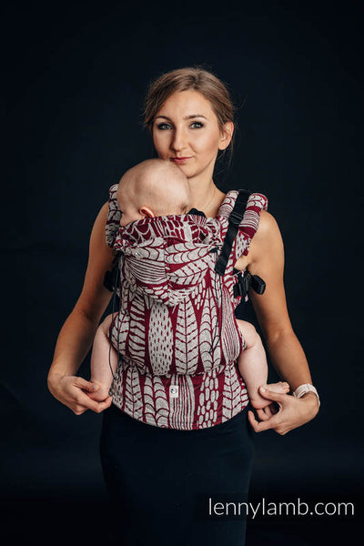Sketches Of Nature Ergonomic Baby Size Carrier- Jacquard Weave 69% Cotton 31% Silk |Lenny Lamb