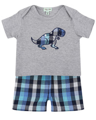 Dino Reversible Shorts Set | Lilly & Sid