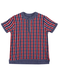Checkered/Chambray Reversible Shirt | Lilly & Sid - Nature Baby Outfitter