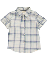 Blue Plaid Woven Button Down Shirt | Me & Henry