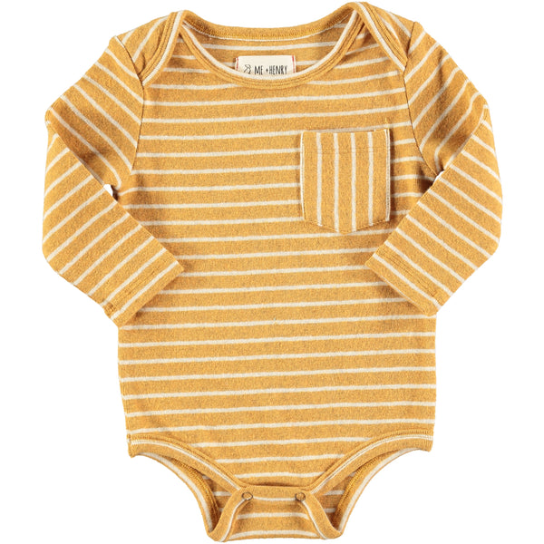 Gold Striped Bodysuit | Me & Henry