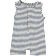 Blue/White Stripe Shorts Romper | Me & Henry
