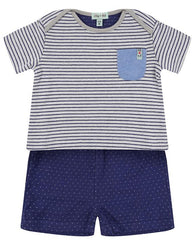 Navy Reversible Jersey Shorts Set | Lilly & Sid