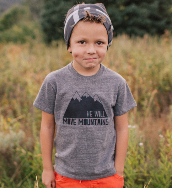 He Will Move Mountains Onesie | Made of Mountains