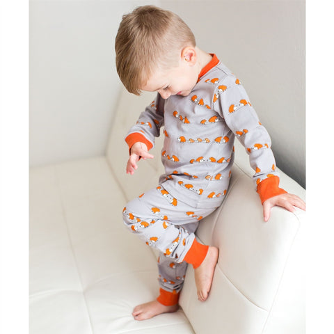 Hedgehogs Lovedbaby Organic Long Sleeve PJ Set - Nature Baby Outfitter