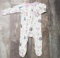 Woodland Lilac Fox Zipper Footie | Bestaroo