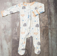 Woodland Amber Fox Zipper Footie | Bestaroo