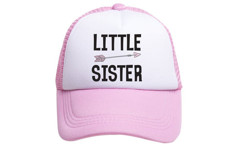 Little Sister Tiny Trucker Hat | Pink - Nature Baby Outfitter