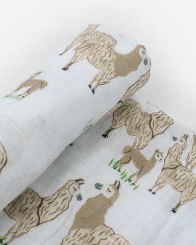 Llama Llama Swaddle Blanket | Little Unicorn