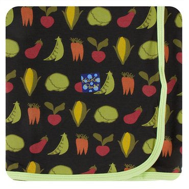 Zebra Garden Veggies Swaddle Blanket | Kickee Pants