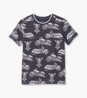 Charcoal Gray Motorcycles Graphic Tee | Hatley