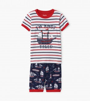 Nautical Ships Organic Cotton Appliqué Pajama | Hatley