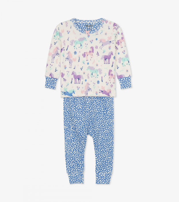 Playful Ponies Organic Cotton Pajamas | Hatley